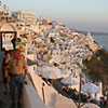 Buildings at sunset, Thira Santorini